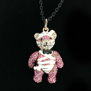 Betsey Johnson Mummy Teddy Bear Necklace